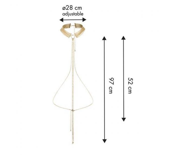 Цепочка ошейник Bijoux Indiscrets MAGNIFIQUE Collar - Gold, украшение для тела