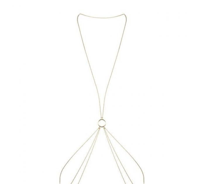 Цепочка для тела Bijoux Indiscrets Magnifique 8 Body Chain - Gold, украшение для тела