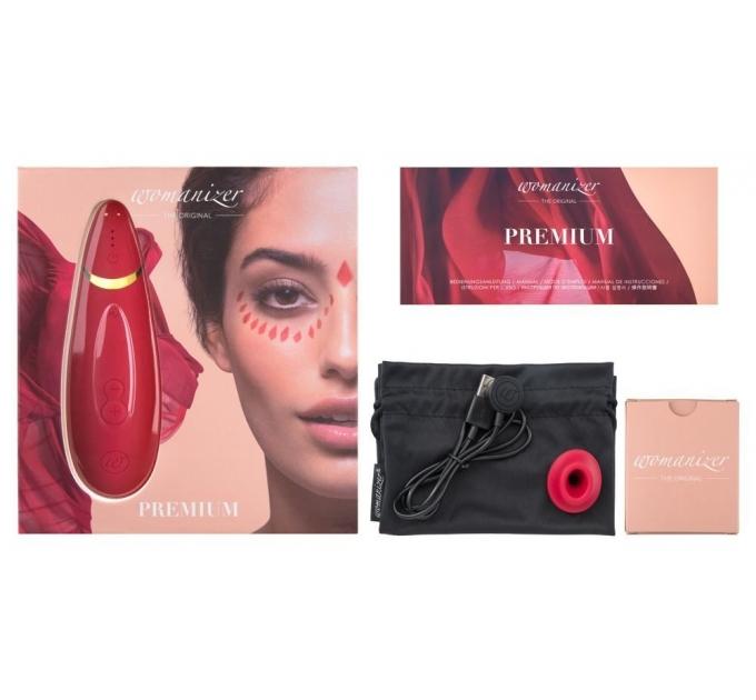 Вакуумный клиторальный стимулятор Womanizer Premium Red