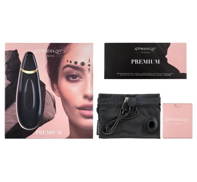 Вакуумный клиторальный стимулятор Womanizer Premium Black