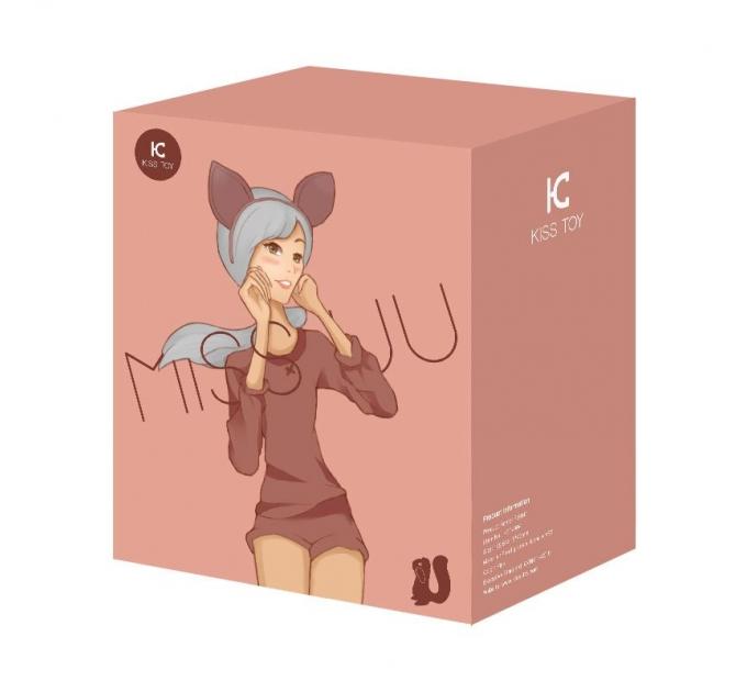 Вакуумный стимулятор с вибрацией KisToy Miss UU Orange, игрушка 2-в-1