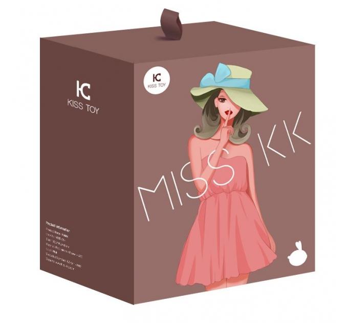 Вакуумный клиторальный стимулятор с вибрацией KisToy Miss KK Pink