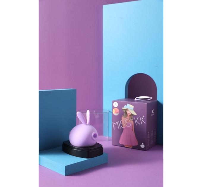 Вакуумный клиторальный стимулятор с вибрацией KisToy Miss KK Purple