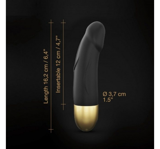 Вибратор Dorcel Real Vibration S Gold 2.0, диам 3,7см, перезаряжаемый, для точки G