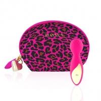 Мини-вибромассажер RIANNE S - Lovely Leopard Mini Wand Pink
