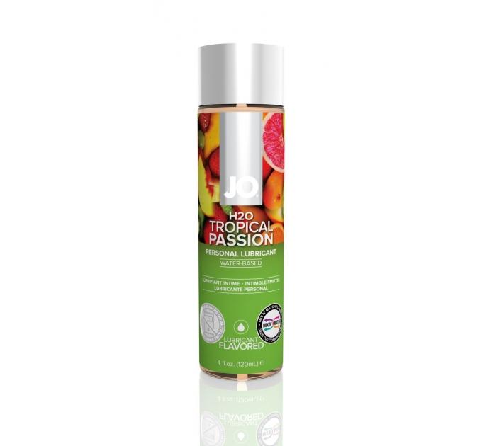 Смазка на водной основе System JO H2O - Tropical Passion (120 мл) без сахара, растительный глицерин