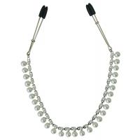 Украшение цепочка с зажимами для сосков Sportsheets Midnight Pearl Chain Nipple Clips
